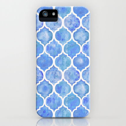 Society6 iPhone・スマホケース Society6 ケース Cornflower Blue Moroccan Hand Painted(3)