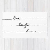 Society6★ラグマット★Love Laugh Live◆S:61.0cm × 91.0cm