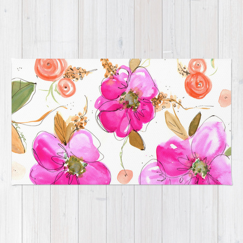 Society6★ラグマット★All-Pink Double◆S:61.0cm × 91.0cm