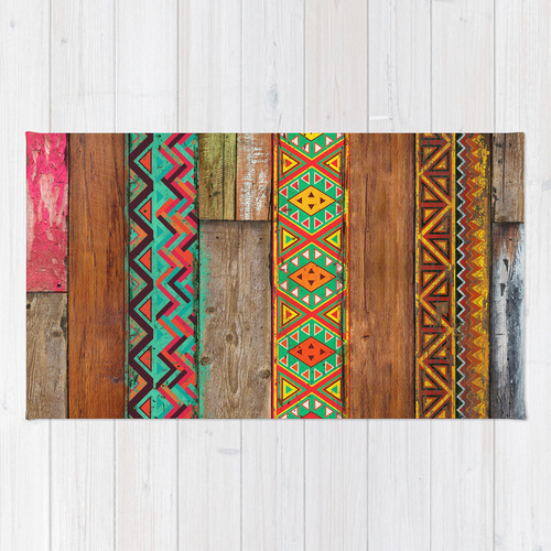 Society6★ラグマット★Indian Wood◆S:61.0cm × 91.0cm