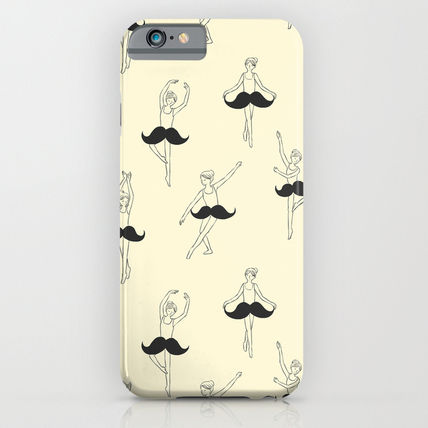 Society6 iPhone・スマホケース Society6 ケース The Ballet of Mustache by Ilovedoodle