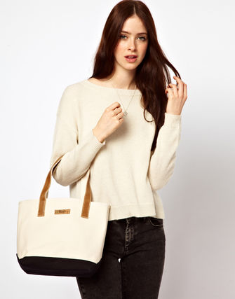 ASOS トートバッグ Matt & Nat Canvas Shopper Bag