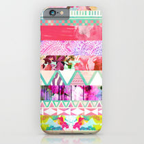 【海外限定】society6★Pastel Abstract Floral iPhoneケース