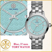 Tory Burch watch発売開始★TORY WATCH☆ブルー  シルバー 37 mm