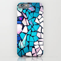 Society6 ケース Turquoise and blue mosaic-(photograph)