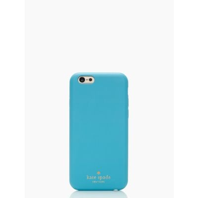 最新作! kate spade LEATHER IPHONE 6 CASE★salle turquoise