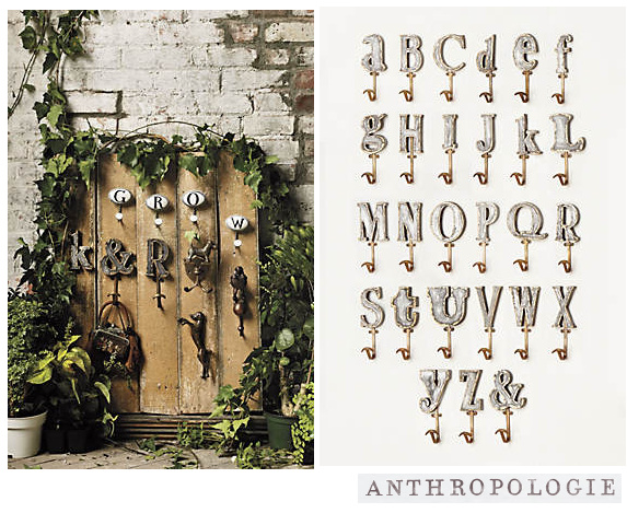 Anthropologie *選べる!Marquee Letterフック♪3点セット