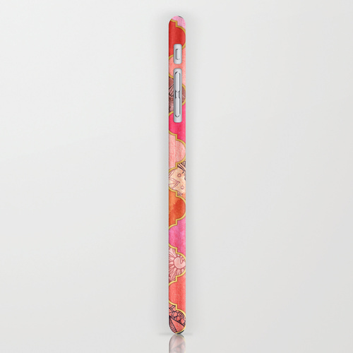 Society6 ケース Hot Pink, Gold, Tangerine & Taupe Decorative