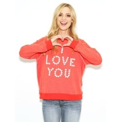 即発★ サイズM  Wildfox Little Heart Spell Sweatshirt