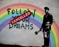 Banksy Like Follow Your Dreams # Pop Art キャンパスポスター