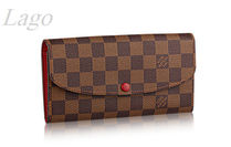 【かわいい!】LouisVuitton♪長財布 Emilie ♪N63544 ♪