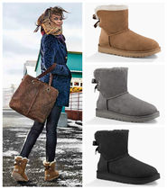 ★UGG Mini Bailey Bow Black, Chestnut★