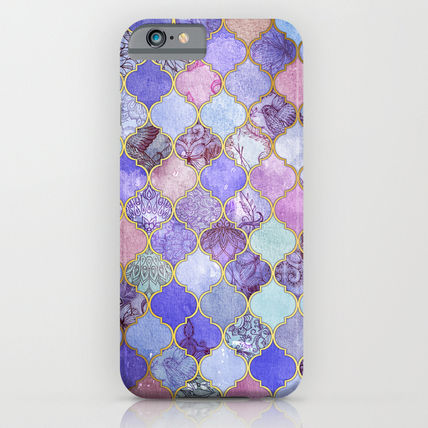 Society6 スマホケース・テックアクセサリー Society6 ケース Royal Purple, Mauve & Indigo Decorative