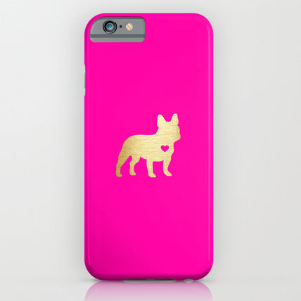 Society6 iPhone・スマホケース Society6 ケース French Bulldog Gold by Anne Was Here