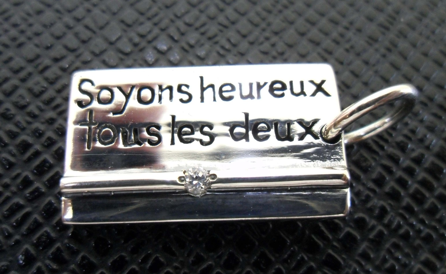 silver925 ペンダントトップ Soyons heureux・・・