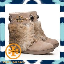 TORY BURCH☆ラビットファーcurranーEMBELLISHED BOOTIE