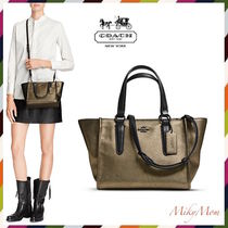 国内発♪COACH☆CROSBY mini carryall in Metallic Leather33848
