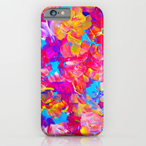 Society6 ケース FLORAL FANTASY Bold Abstract Flowers Acrylic