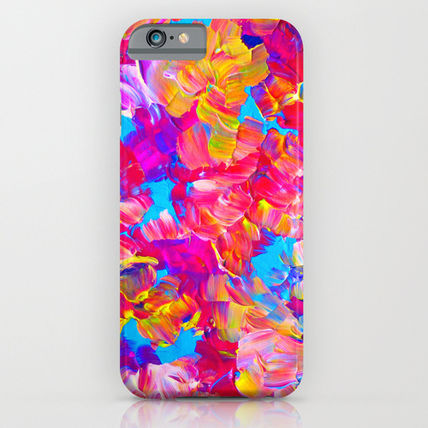Society6 iPhone・スマホケース Society6 ケース FLORAL FANTASY Bold Abstract Flowers Acrylic