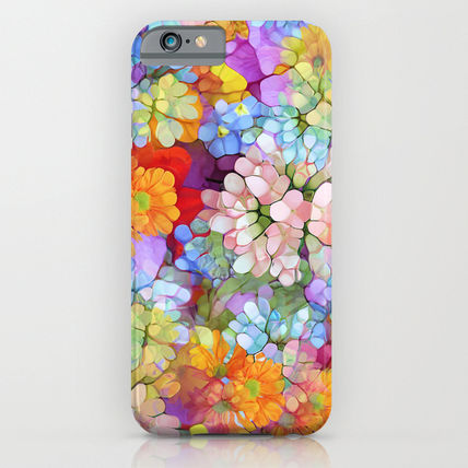 Society6 iPhone・スマホケース Society6 ケース Rainbow Flower Shower by Joke Vermeer
