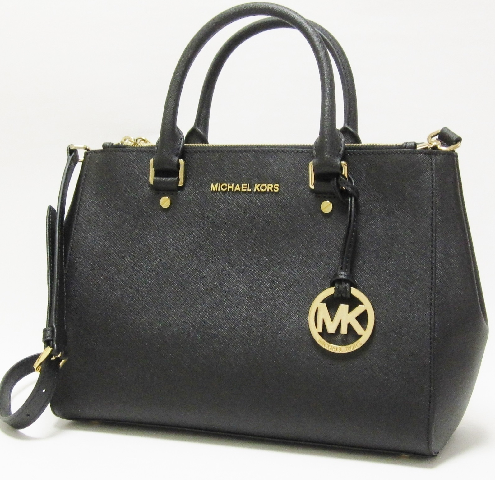 《SALE!》MKゴールドチャームが大人気★Sutton Large Satchel♪