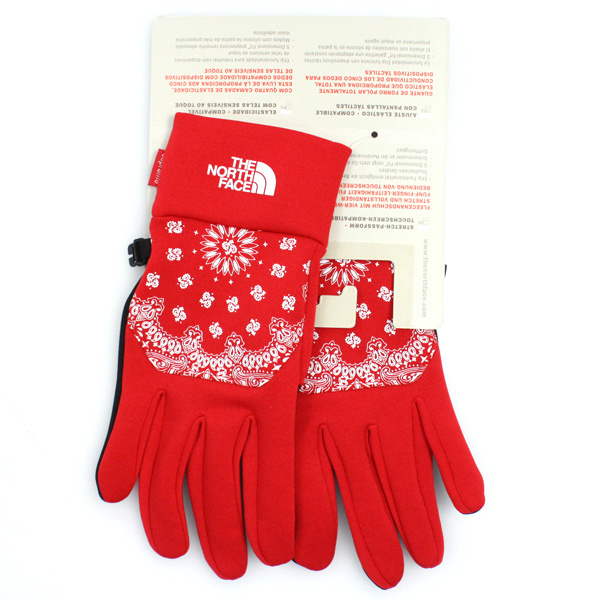 Supreme x North Face Bandana Etip Glove 赤 サイズ M