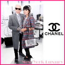 CHANEL★シャネル★素敵!Tweed Print 4Pocket  Trench Coat