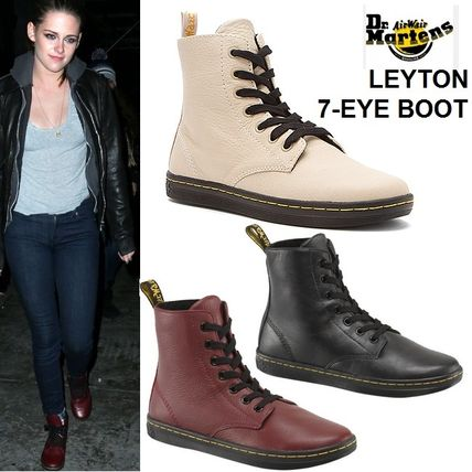 Multi-color and Dr. Martens LEYTON 7 EYE boot