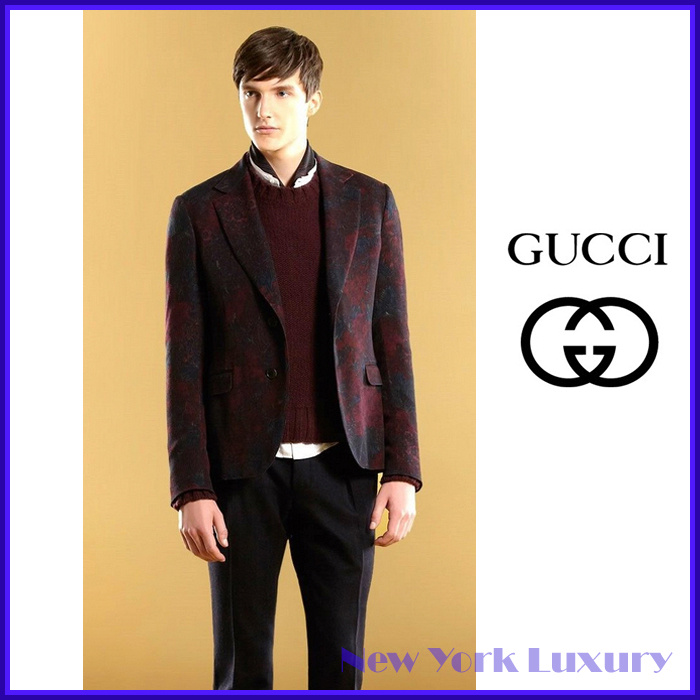 GUCCI★グッチ★素敵!Eggplant Wool/Cashmere Sweater
