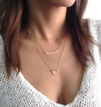 Set of 3 Gold plated Necklaces