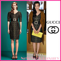 GUCCI★グッチ★素敵!LACE JACQUARD SWEETHEART NECKLINE DRESS