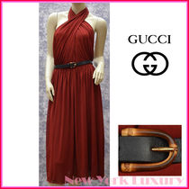GUCCI★グッチ★素敵!Red  Viscose Dress w Bamboo belt