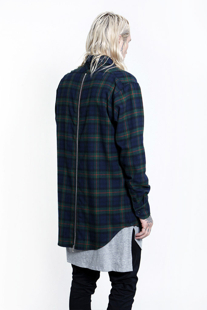 Express配送!最新作☆ FEAR OF GOD - L/S REAR ZIP FLANNEL