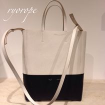 ★NEW★【CELINE】 Small Vertical  Bi-Cabas (Cream × Black)
