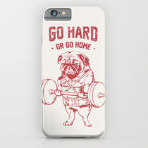 【海外限定】society6★GO HARD OR GO HOME iPhoneケース