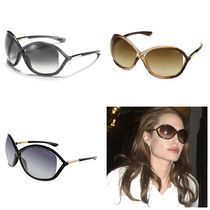 "セレブ多数愛用♪ Tom Ford ""Whitney Sunglass"" (Black/Brown)"
