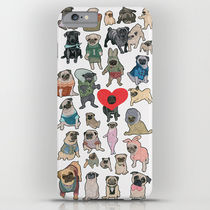 【海外限定】society6★Pugs iPhoneケース