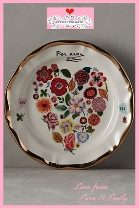 All products & Anthro lovely floral heart plate