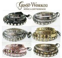 Good Works Make A Difference(グッドワークス メイク ア ディファレンス) ブレスレット 【関税・送料込】Good Works メタリックレザー5連ブレスレット