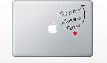 """MacBook 対応 アートステッカー """"this is one awesome person"""""""