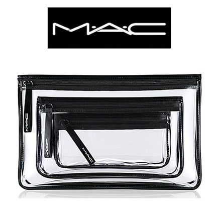 MAC メイクポーチ M.A.C☆ クリアー・メイキャップポーチ☆ 3点セット♪