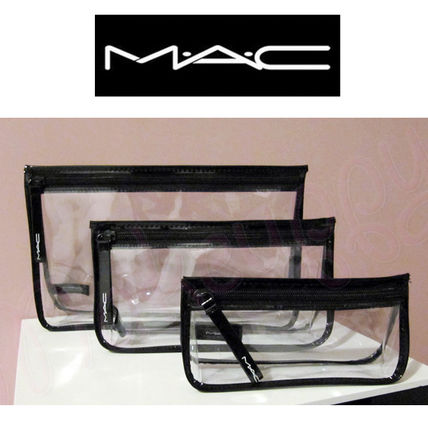 MAC メイクポーチ M.A.C☆ クリアー・メイキャップポーチ☆ 3点セット♪(3)