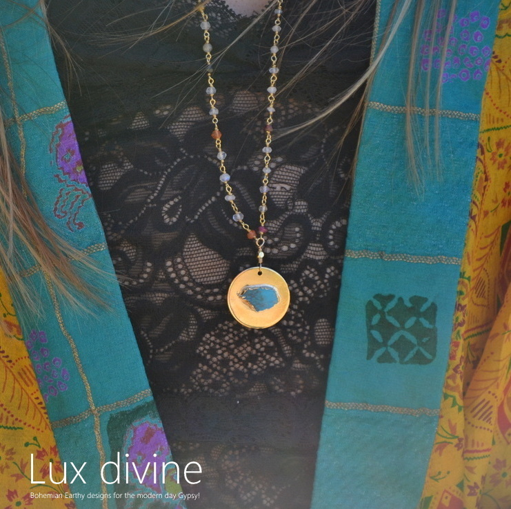 ☆Luxdivine☆ターコイズ Celestial ネックレス GOLD☆国内発送