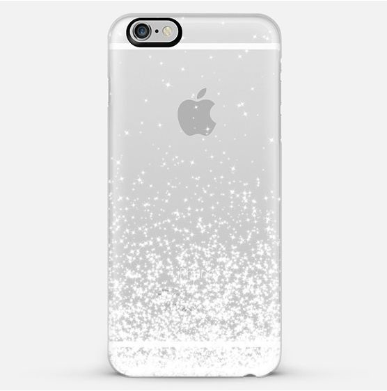 【送料込】☆Casetify WHITE SPARKLES iPhoneクリアケース☆
