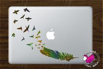 MacBookアートステッカーFeather Turning into a Flock of Birds