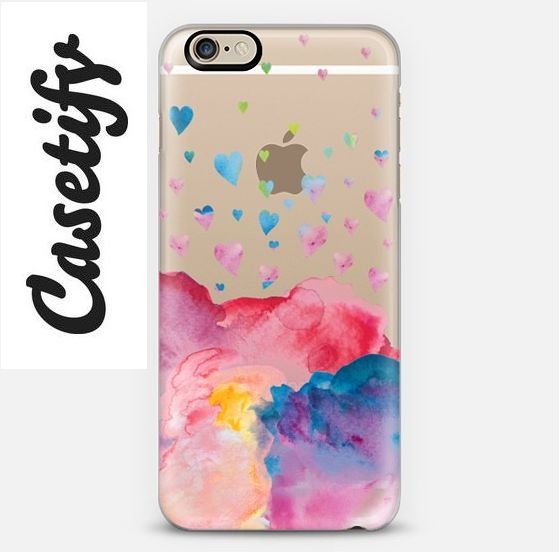 【送料込】☆Casetify WATERCOLOR LOVE 2 iPhoneクリアケース☆