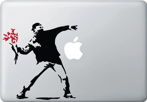 Macbook 対応  アートステッカー The Molotov Guy with Flowers
