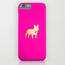 【海外限定】society6★French Bulldog Gold iPhoneケース