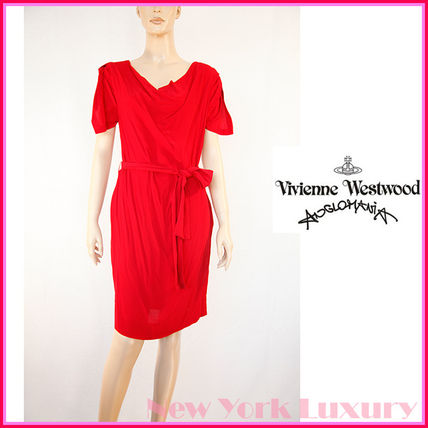 Vivienne Westwood★Anglomania素敵!レッドレーヨンワンピース
