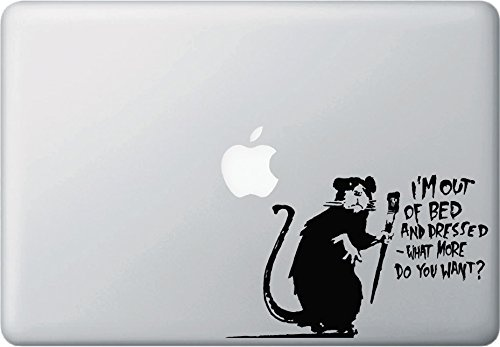 "MacBook ステッカー ""Rat - ""I'm Out of Bed and Dressed - ...."